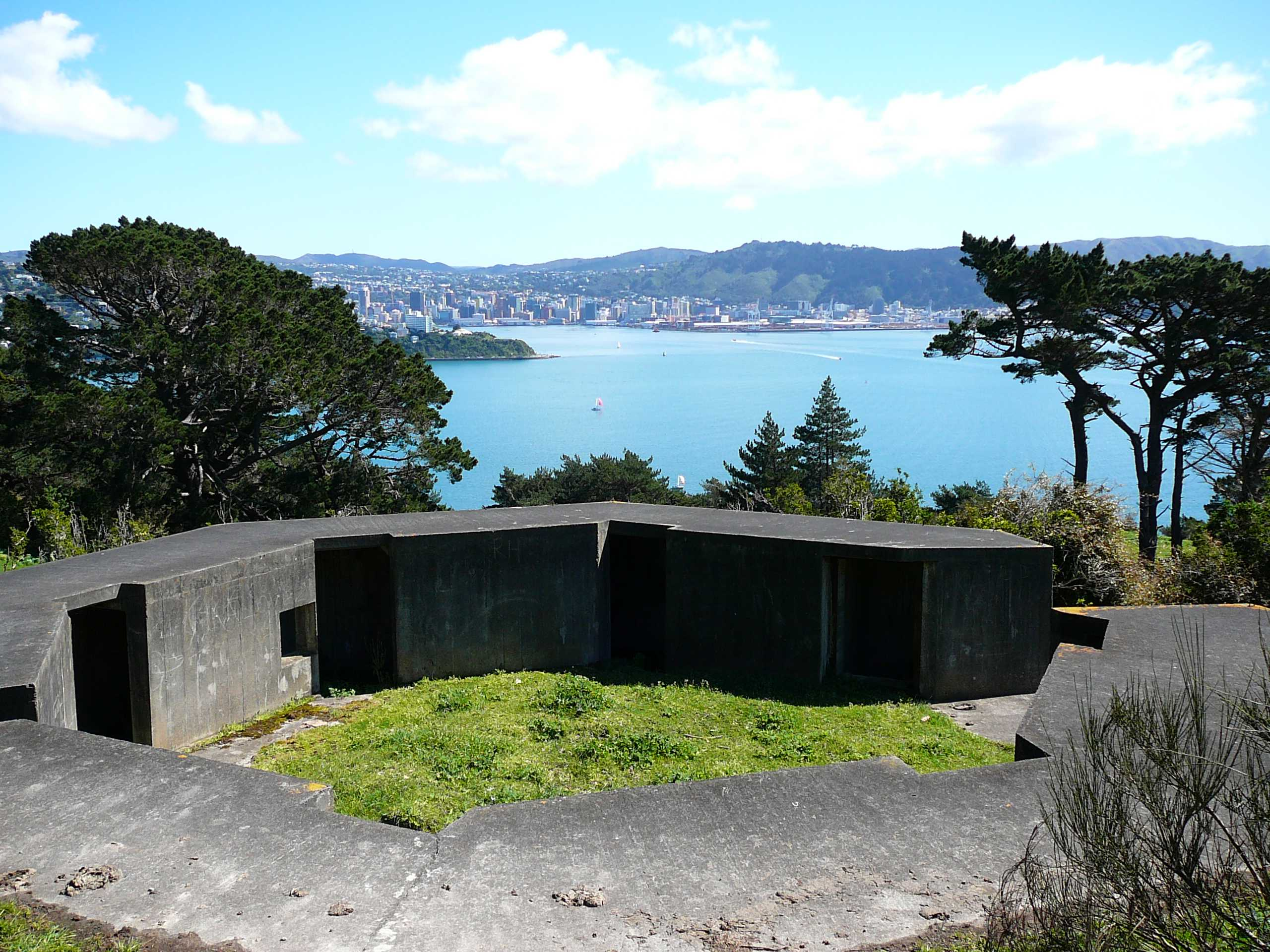 City from the gun emplacements